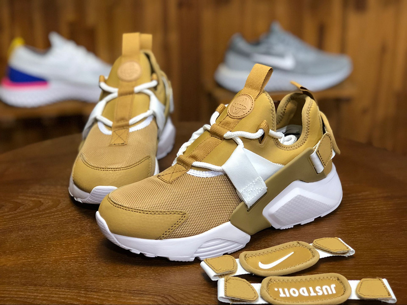 23749c90deed Nike Air Huarache City Low Elemental Gold White AH6804 700 Women s Casual  Shoes