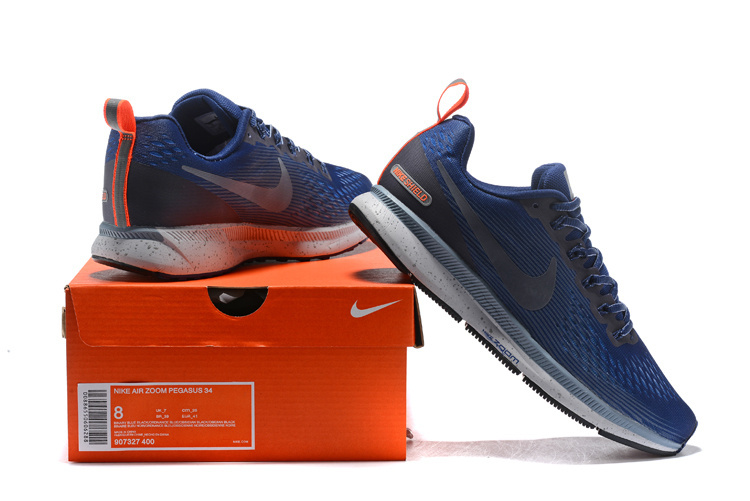 promo code 8fa30 edfa7 Nike Air Zoom Pegasus 34 FlyEase Binary Blue Obsidian Armory Blue 907327  400 Mens ...