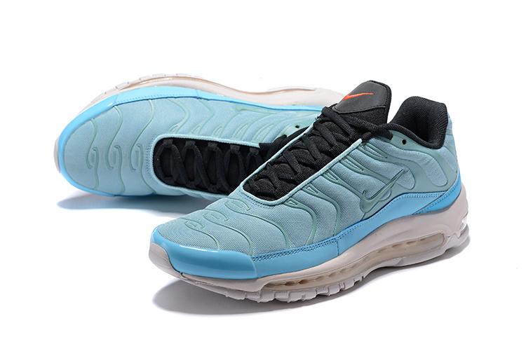designer fashion 37304 186b9 Men's Nike Air Max 97 / Plus TN Mica Green Leche Blue Orange Blaze Barely  Rose AH8144 300 Casual Shoes Sneakers AH8144-300