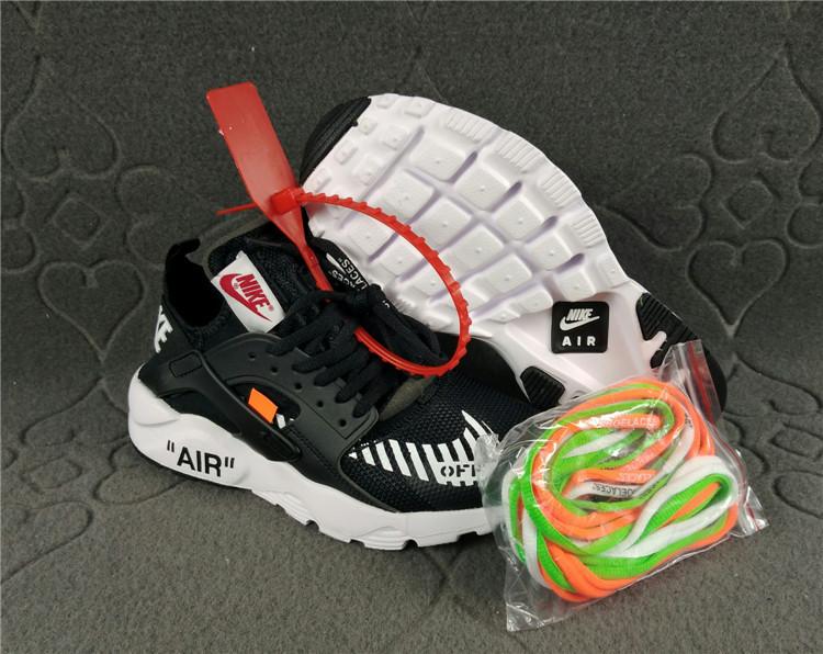 878e964979da Nike Air Huarache Ultra Run Off White Black White Women s Men s ...