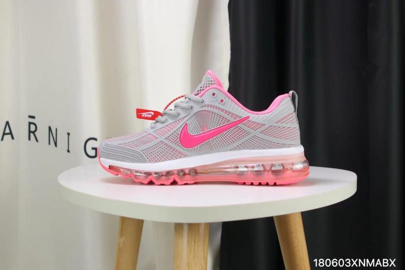 975affc1f8f1 Nike Air Max 2019 KPU Wolf Grey Pink White Women s Running Shoes ...