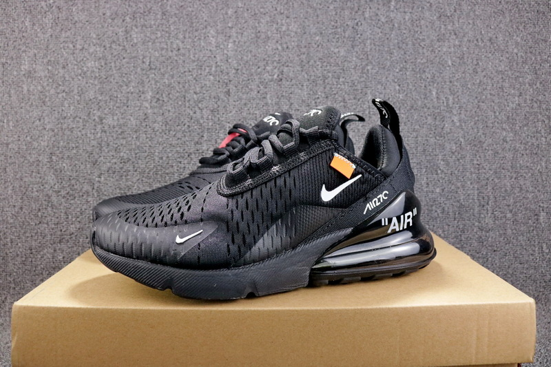 buy popular 29173 ab5ef OFF-WHITE x Nike Air Max 270 Flyknit Black White AH8050 100 Women's Men's  Casual Shoes AH8050-100b