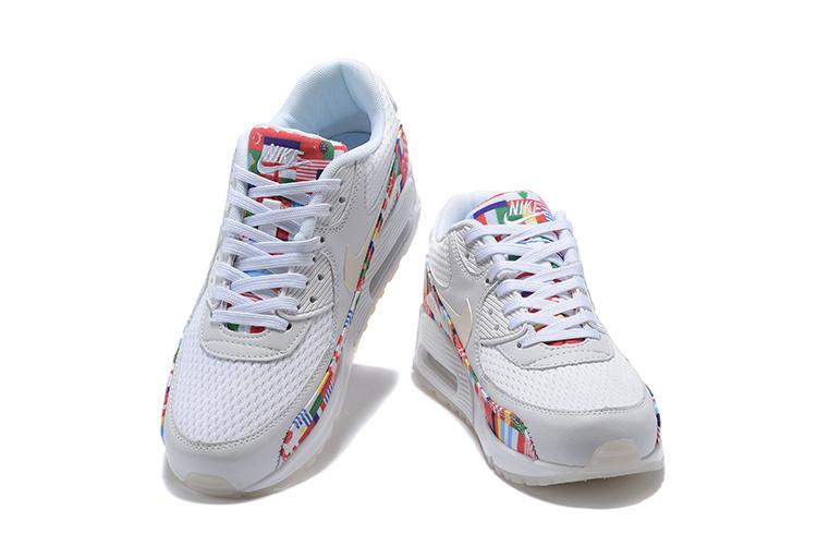 2dcc6d3e2108 Nike Air Max 90 NIC QS International Flag White Multi-color AO5119 100  Men s Women s