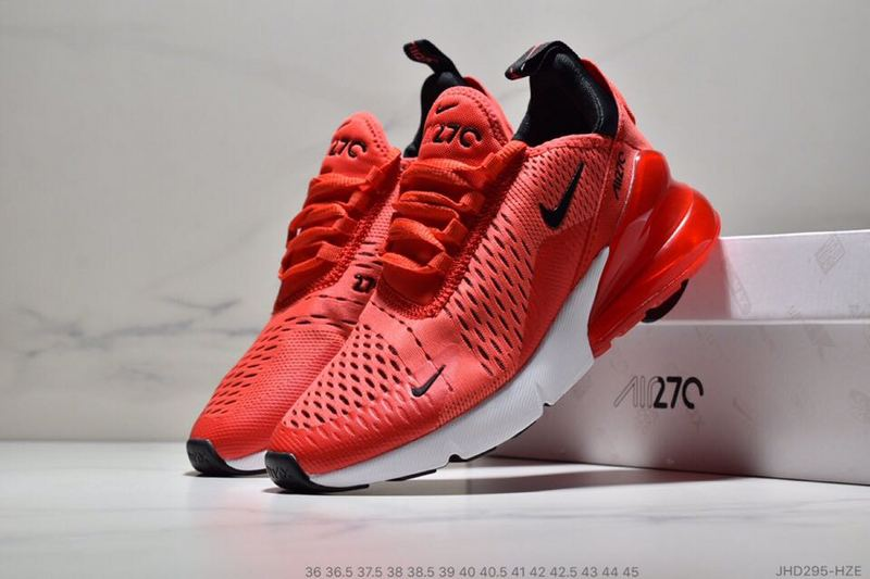 new style 4837f d11ee Nike Air Max 270 GS Habanero Red Black White ...