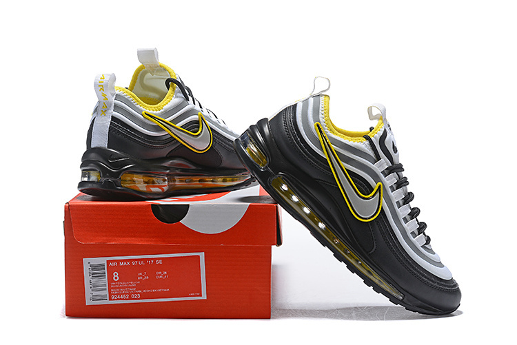 e5d5c52fcc7d9a Men s Nike Air Max 97 Ultra 17 SE Black Yellow Grey White 924452 023 ...