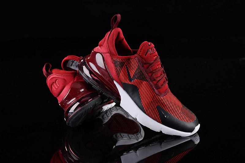 sale retailer 1a434 bed5b Nike Air Max 270 Stripe Burgundy Black White Men's Casual Shoes  NIKE-ST003070
