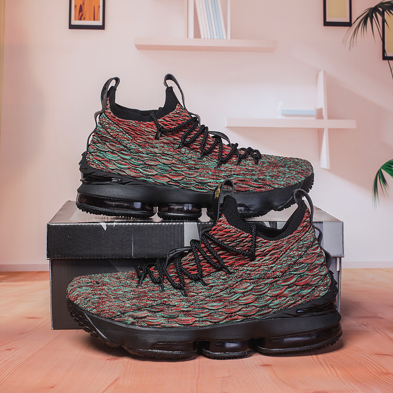 Nike Lebron 15 Dark Atomic Teal Team Red Muted Bronze Ale Brown ... 5211976d24
