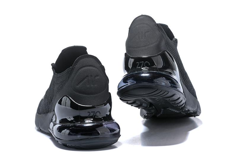 21db3ed8ae75b8 Nike Air Max 270 Flyknit Black White Women s Men s Casual Shoes NIKE ...