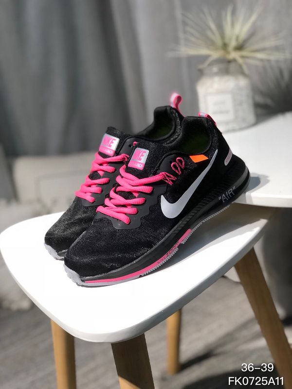 Off White X Nike Air Zoom Structure 21 Black Pink White Women S