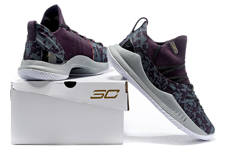 sports shoes a9f7b fc3b8 Under Armour UA Curry 5 Burgundy Men's Basketball Shoes NIKE-ST002912