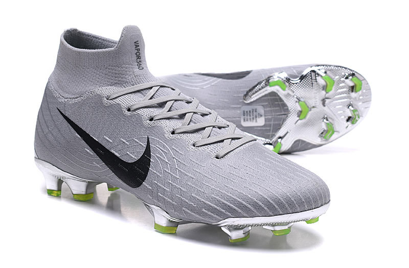 discount sale 7cc3d 1afa4 Nike Mercurial Superfly VI 360 Elite FG Silver Green Black Men's Soccer  Cleat Shoes NIKE-ST003050
