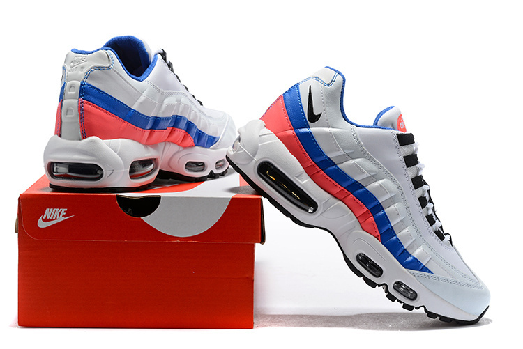 buy popular 0c692 81c25 Nike Air Max 95 Essential White Black Solar Red Ultramarine 749766 106  Men's Casual Shoes 749766-106