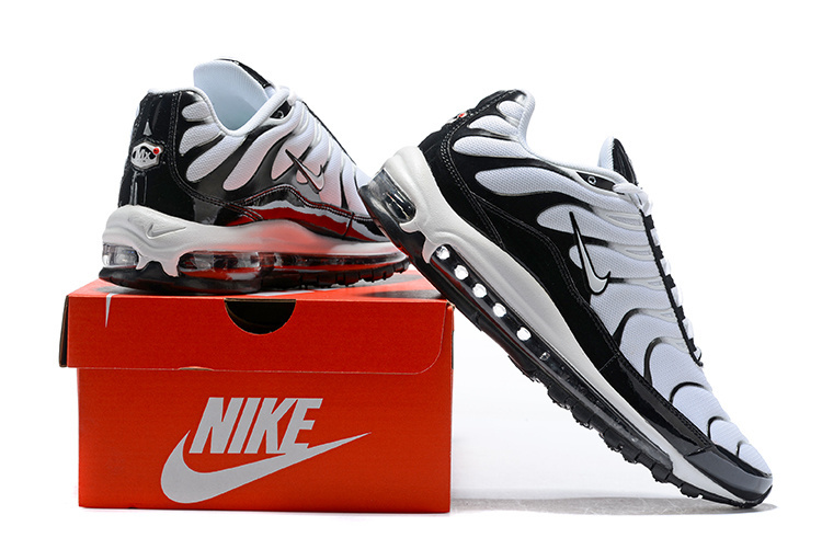 new style 204b2 ff8ca Men s Nike Air Max Plus TN 97 White Black Casual Shoes Sneakers
