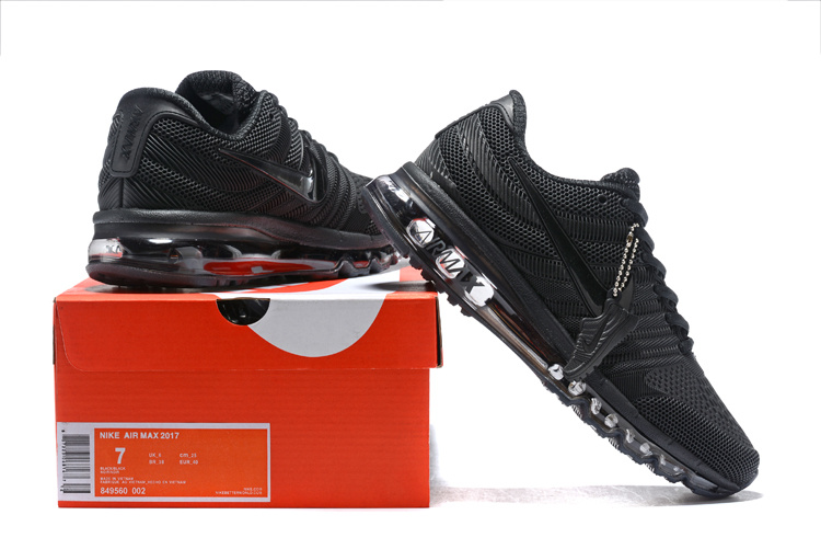 hot sale online 76ef2 d114a Nike Air Max 2017 KPU Triple Black 849560 002 Men's Running Shoes  849560--002