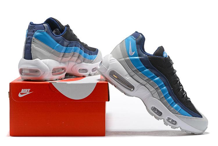 check out 8ef76 f80b1 Nike Air Max 95 Essential Pure Platinum Black Navy Noise Aqua 749766 ...