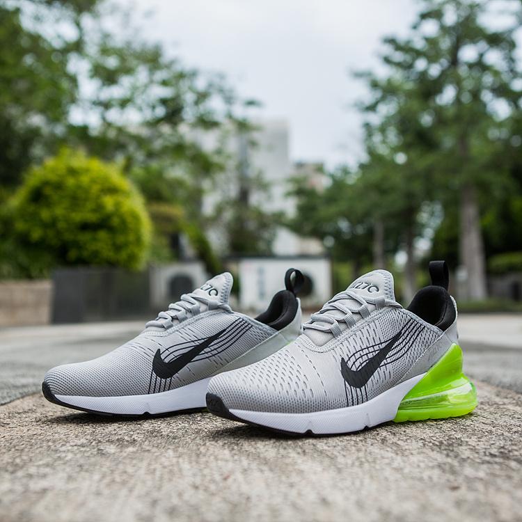 d6d83cdb5a6 Nike Air Max 270 World Cup Wolf Grey Black Green Men s Casual Shoes ...