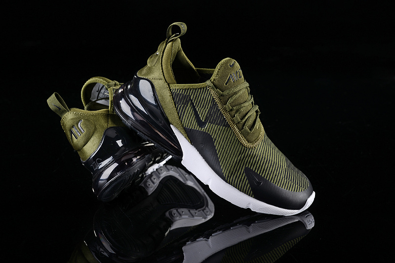 low priced 7b810 ba443 Nike Air Max 270 Stripe Olive Green Black White Men's Casual Shoes  NIKE-ST003071