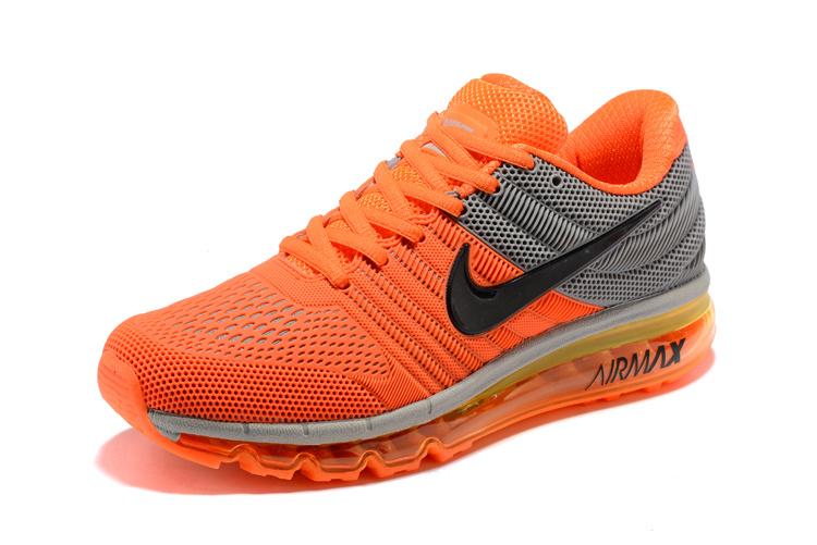 the best attitude d1ae9 88386 Nike Air Max 2017 KPU Orange Black Wolf Grey 849560 860 Men s Running Shoes