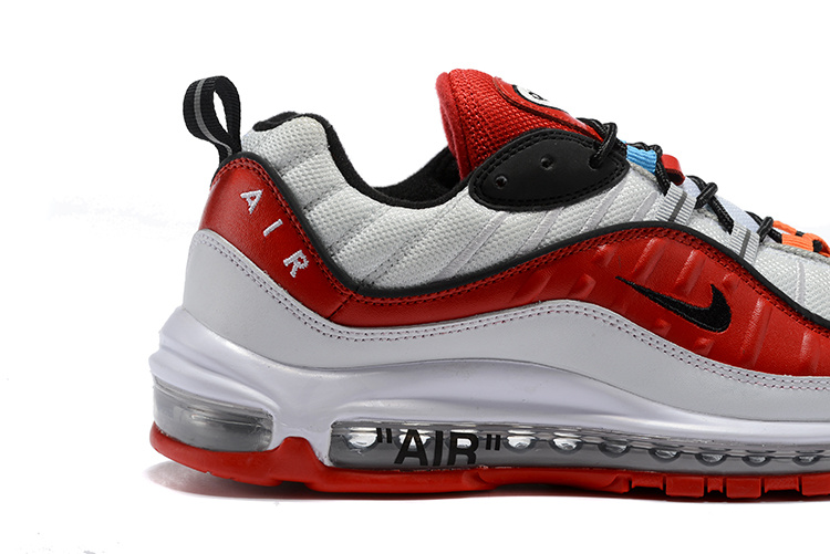 sale retailer 329fd f1252 Original Nike Air Max 98 OG Grey Fire Red Black Men's Running Shoes  NIKE-ST003267