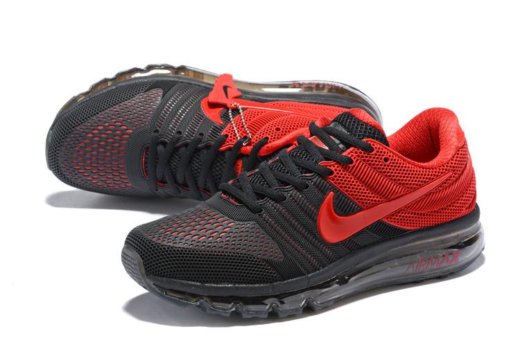 new concept 1b687 0a4cc Nike Air Max 2017 KPU Black Bright Red 849560 606 Men's Running Shoes  849560-606
