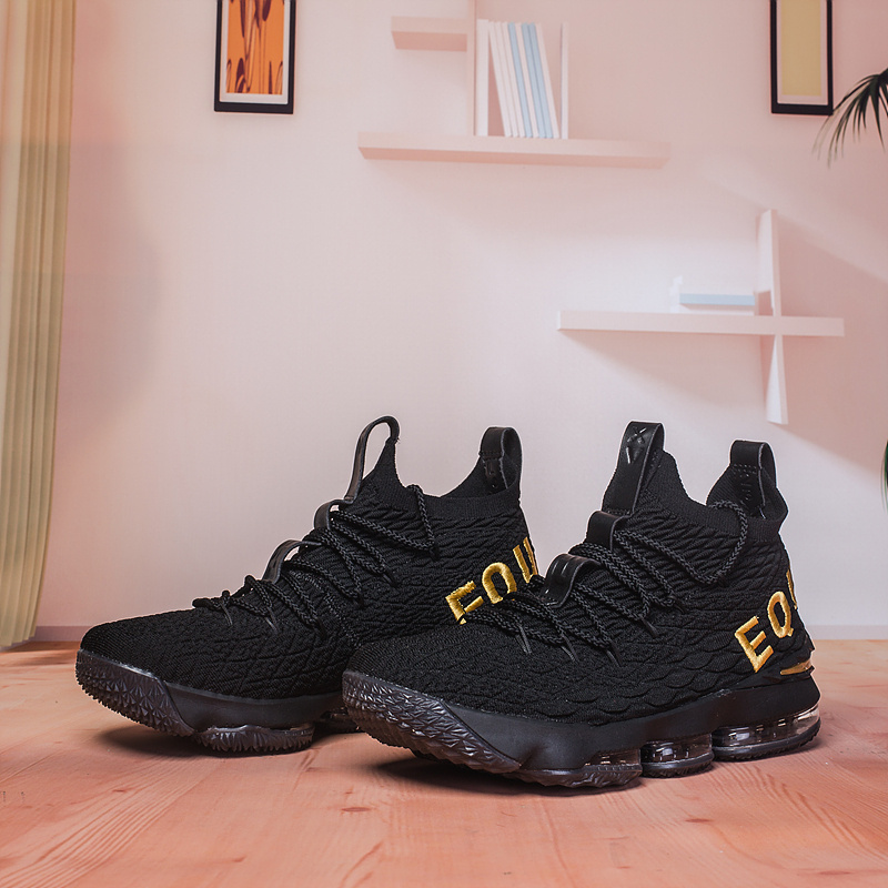 info for 0429b 2efa6 Nike Lebron 15 XV Black Gold Men's Basketball Shoes NIKE-ST003002