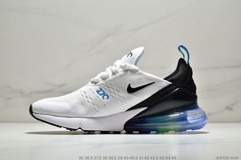 4010cdd7 Nike Air Max 270 Betrue White Black Spectrum Blue AH8050 022 Women's Men's  Casual Shoes
