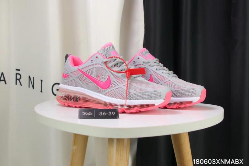 9bb1814b510 Nike Air Max 2019 KPU Wolf Grey Pink White Women s Running Shoes ...