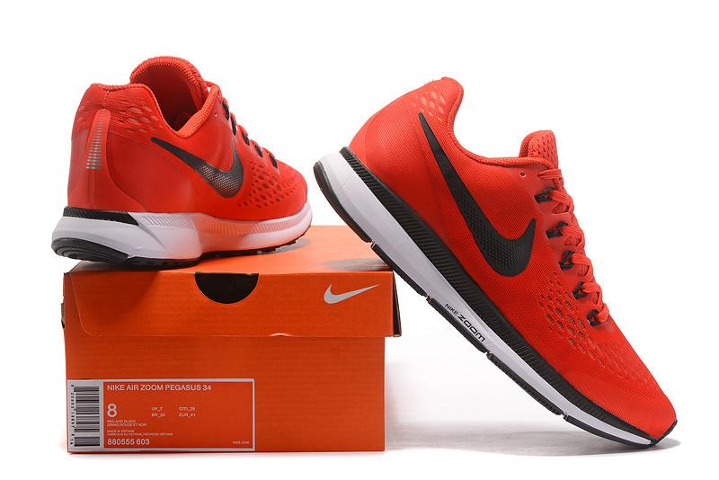 Nike Air Zoom Pegasus 34 FlyEase Rush Maroon Bright Crimson Phantom Black  880555 603 Men s Casual e8e6775c8902b