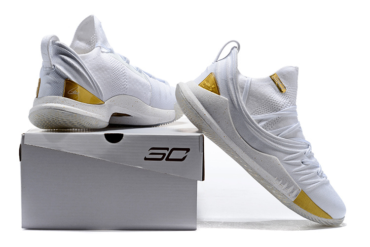 new styles 37051 64c20 Under Armour UA Curry 5 White Gold Men's Basketball Shoes NIKE-ST002904