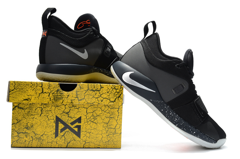 best service c961f 4206b Nike Paul George PG 2. 5 Black Dark Grey White Men's Basketball Shoes  NIKE-ST002858
