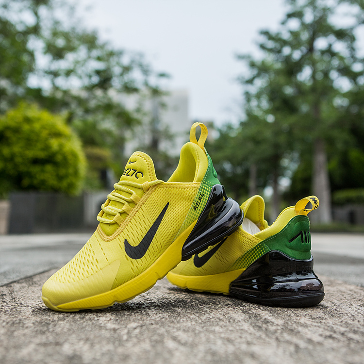 wholesale dealer 7d706 11ef1 Nike Air Max 270 World Cup Yellow Green Black Men's Casual Shoes  NIKE-ST002956