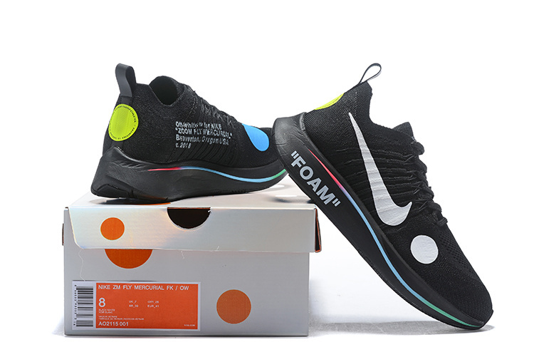 fd019e48ce27 Off-White x Nike Zoom Fly Mercurial Flyknit Black Volt White AO2115 001  Men s Running Shoes AO2115-001A