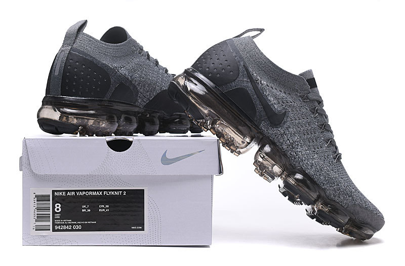 best cheap a6cc5 a691c Ventilation Nike Air VaporMax Flyknit 2. 0 W Dark Grey Black WolfGrey  942843 002 Men's Running Shoes 942843-002