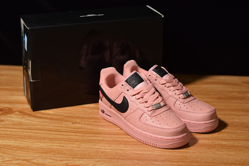 Supreme x The North Face x Nike Air Force 1 Pink Black AR3066 800 Men's Women's Casual Shoes Sneakers AR3066 800