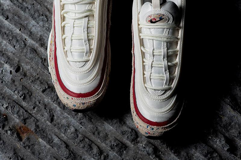 the best attitude 76cfe 6ac9d Nike Air Max 97 Paint Splatter Sail Amarillo University Red Black 312834  102 Women's Men's Casual Shoes 312834-102
