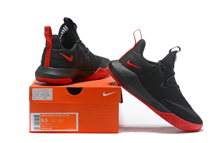 timeless design 598e5 18f7b Nike Hyperdunk Low 2018 Black Red Men's Basketball Shoes NIKE-ST002851