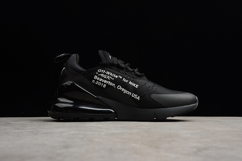 the best attitude 34018 933dd Off-White X Nike Air Max 270 Flyknit Black White AA8058 001 Men's Women's  Casual Shoes AA8058-001