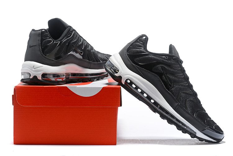 various colors 53613 4a9fa Men's Nike Air Max Plus TN 97 Black White Anthracite AH8144 001 Casual  Shoes Sneakers AH8144-001