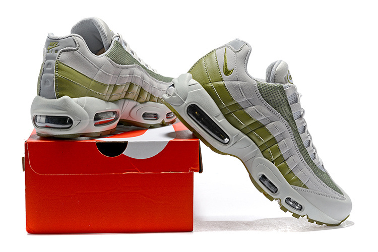 6a46c6935c0f3 Nike Air Max 95 Essential Wolf Grey Green 749766 300 Men s Casual ...