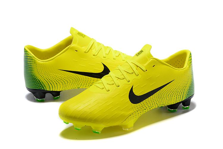 0f0625868f27 Nike Mercurial Vapor XII Pro FG Cleats Volt Yellow Green Black Men s Soccer  Cleat Shoes