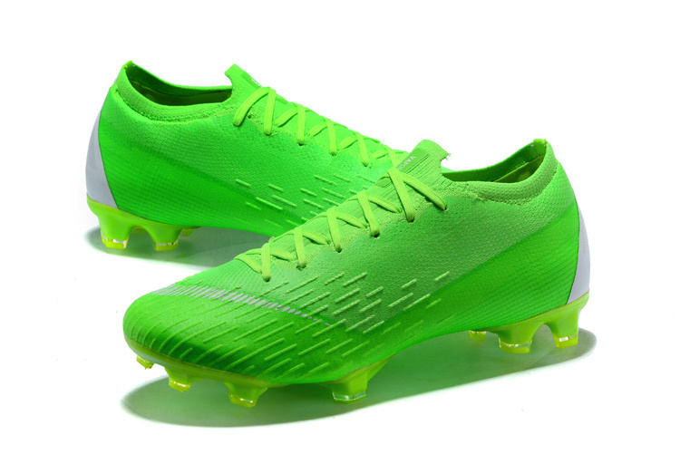 new styles aa6be 6ae43 Nike Mercurial Superfly VI 360 Elite FG ACC Flyknit Low Green Silver Men's  Soccer Cleat Shoes NIKE-ST003413