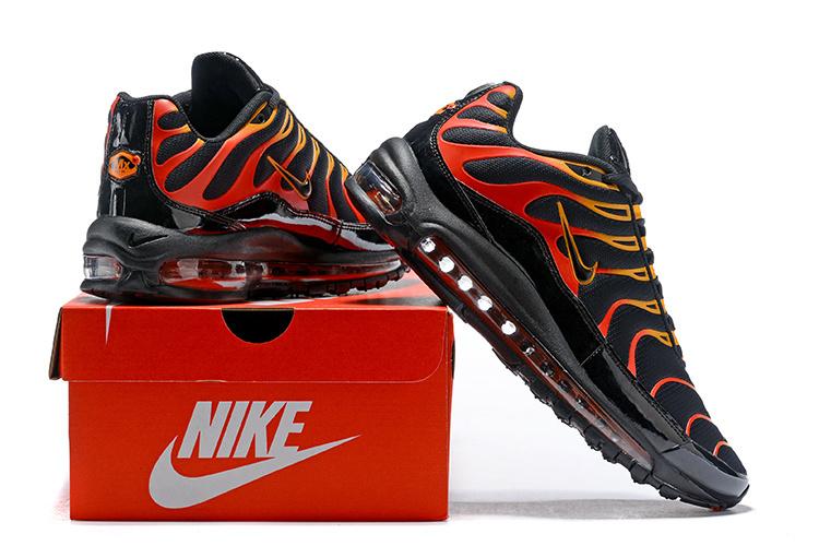 00749e00e Men s Nike Air Max Plus TN 97 Black Engine 1 Shock Orange Black ...