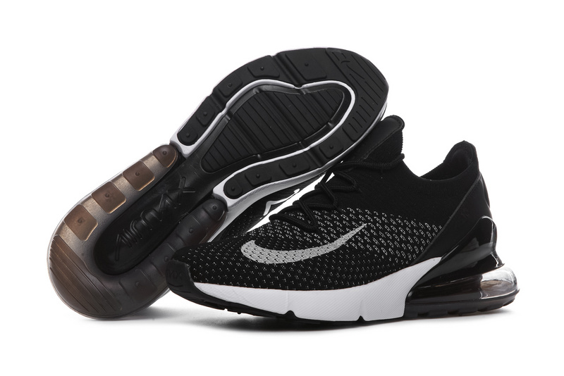 c180fb5dc971 Nike Air Max 270 Flyknit Black White Women s Men s Casual Shoes NIKE ...