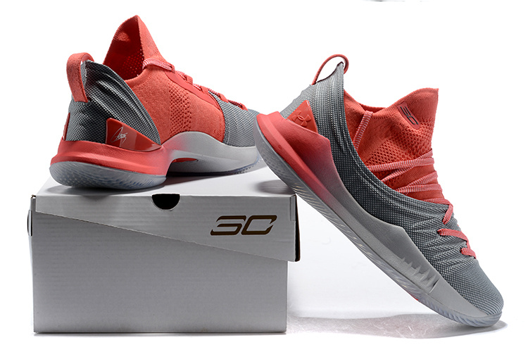 c33bcfa1a40 Under Armour UA Curry 5 Wolf Grey Watermelon Red Men s Basketball ...