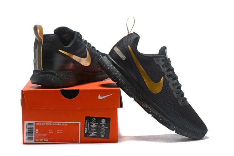 b50cf1e446dd ... Nike Other Running Shoes›. Nike Air Zoom Pegasus 34 FlyEase Black Gold  907327 009 Men s ...