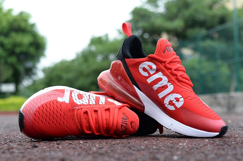 Nike Air Max 270 University Red Black White Men's Casual Shoes NIKE ST002965