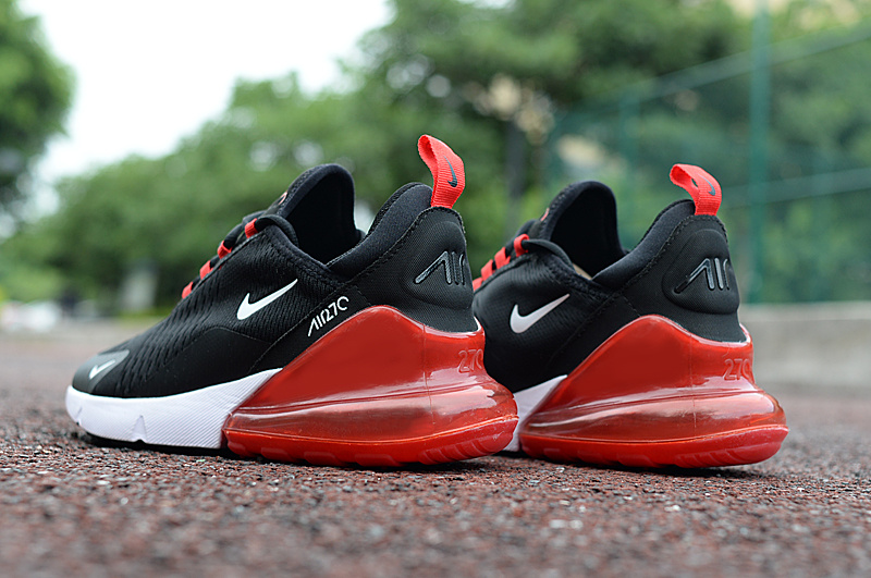 buy popular 6926d f34b6 Nike Air Max 270 Black Red White Men's Casual Shoes NIKE-ST002963