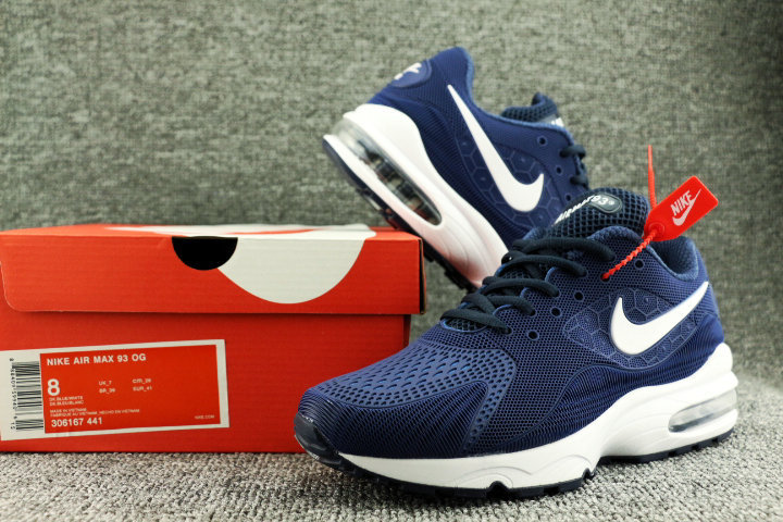 c989d42a7229 Nike Air Max 93 OG kpu Navy Blue White 306167 441 Men s Casual Shoes ...
