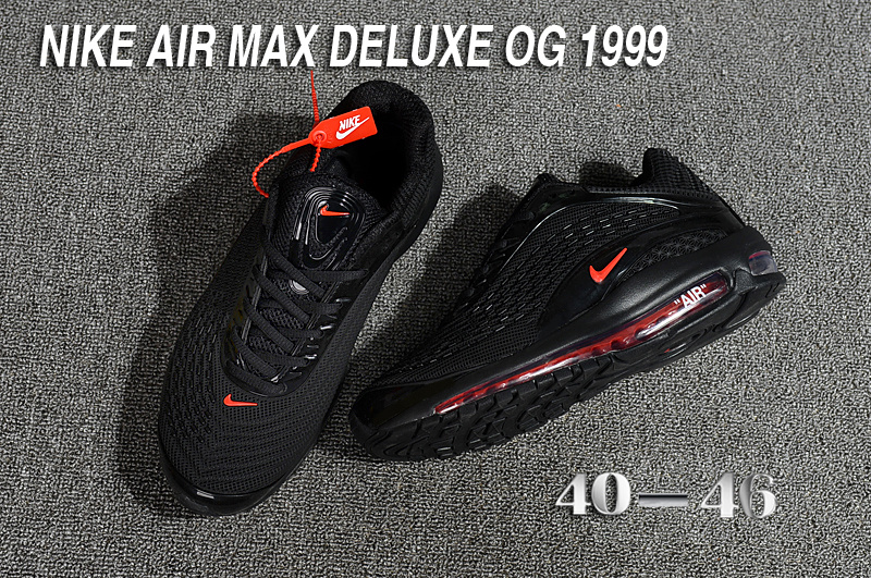 33e68e67f28 Nike Air Max Deluxe OG 1999 Kpu Black Red Men s Running Shoes NIKE ...
