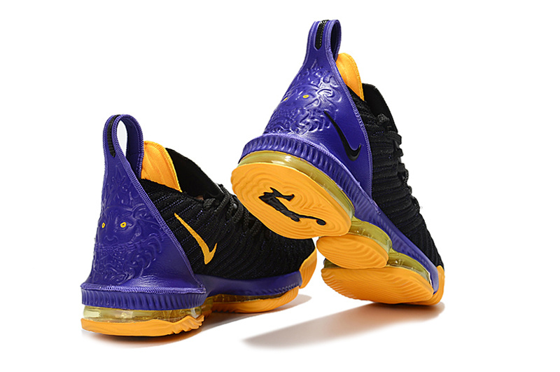 6ab61128aca36 Nike LeBron 16 Black Purple Yellow Men s Basketball Shoes NIKE ...